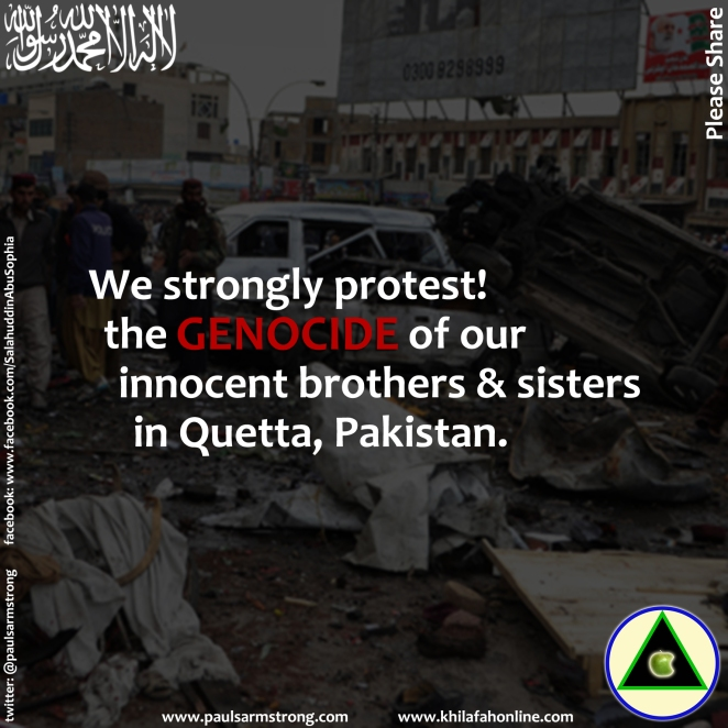 Protest against the genocide in Quetta