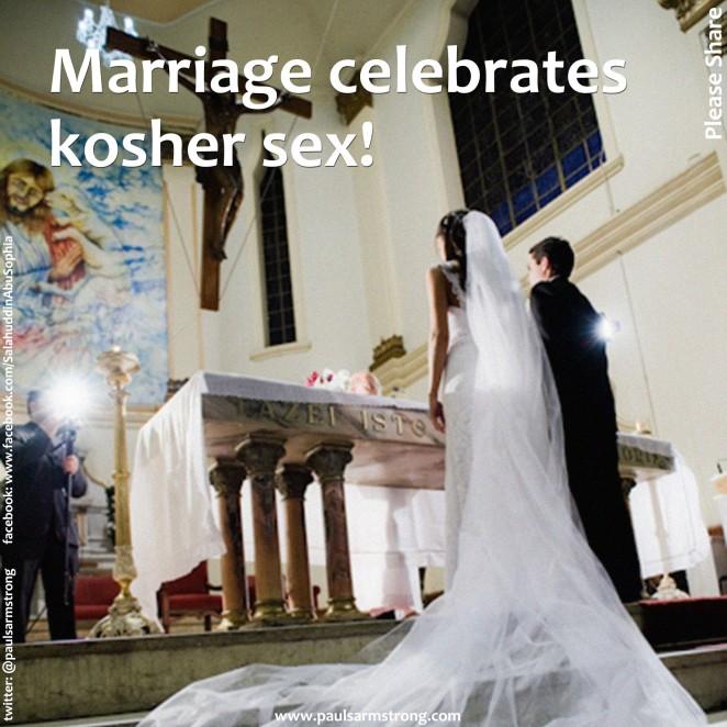 Marriage celebrates kosher sex!