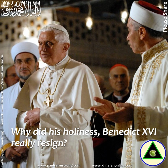 Why did his holiness really resign?