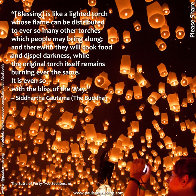 Buddha - Blessing is like a lighted torch