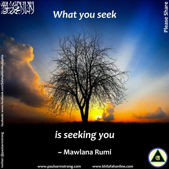 What You Seek Is Seeking You Rumi Paul Salahuddin Armstrong