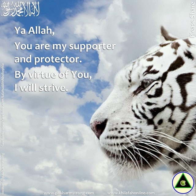 Ya Allah, You are my supporter...