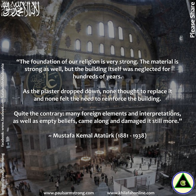 Ataturk on the foundation and strength of Islam