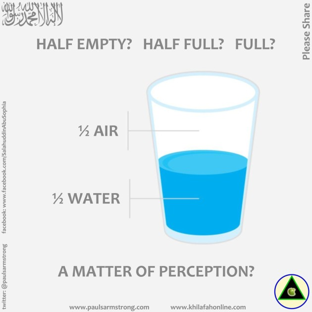 Half Empty? Half Full? Full? A Matter of Perception?