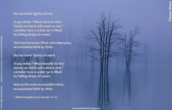 Do not think lightly of evil