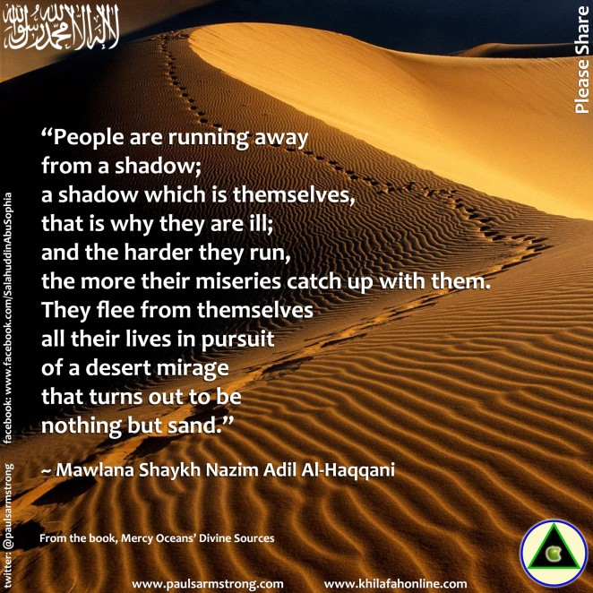 Shaykh Nazim - People are running away from a shadow...