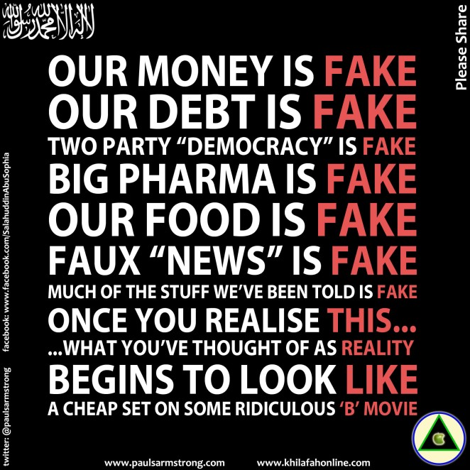 Our money is fake etc