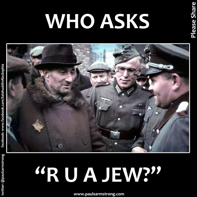 Who Asks: R U A Jew?