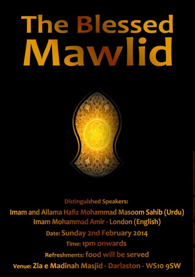 Zia-e-Madinah Masjid - The Blessed Mawlid - Feb 2014