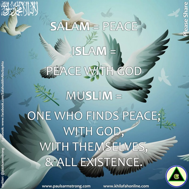 Salam means Peace