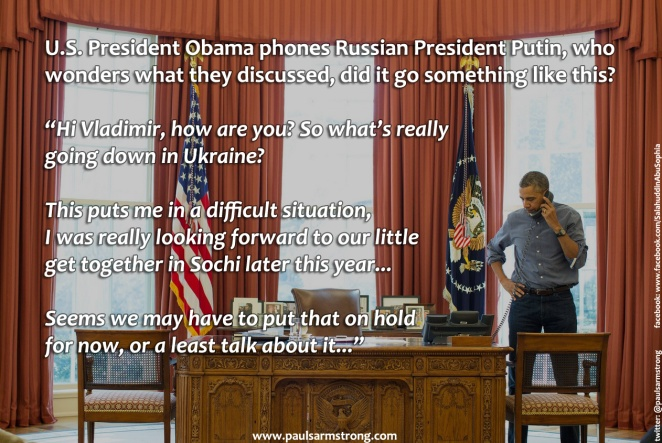 Obama on Phone to Putin re Ukraine