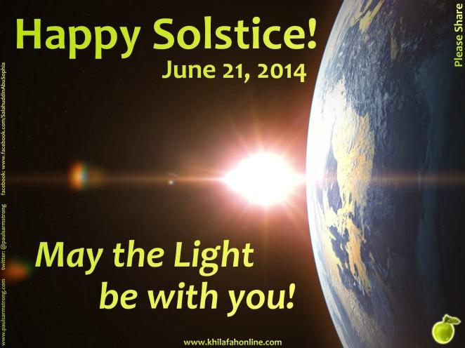 Happy Solstice, June 21, 2014.