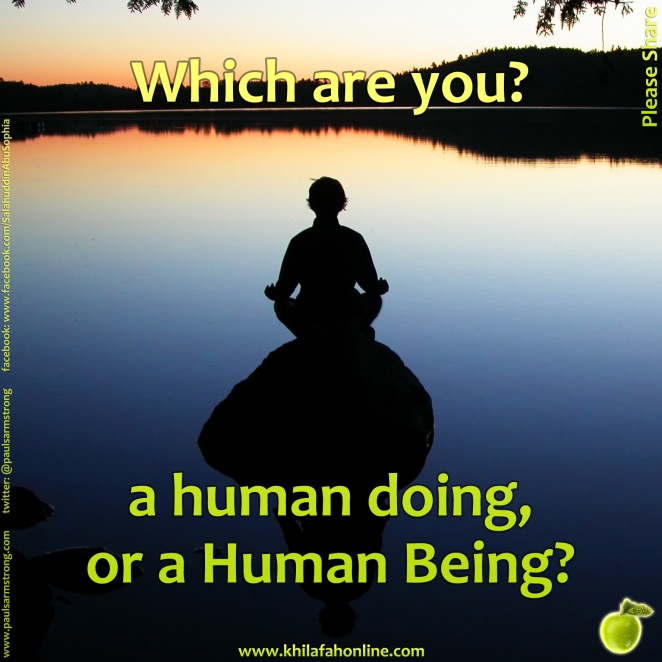 Which are you? a human doing or a Human Being?