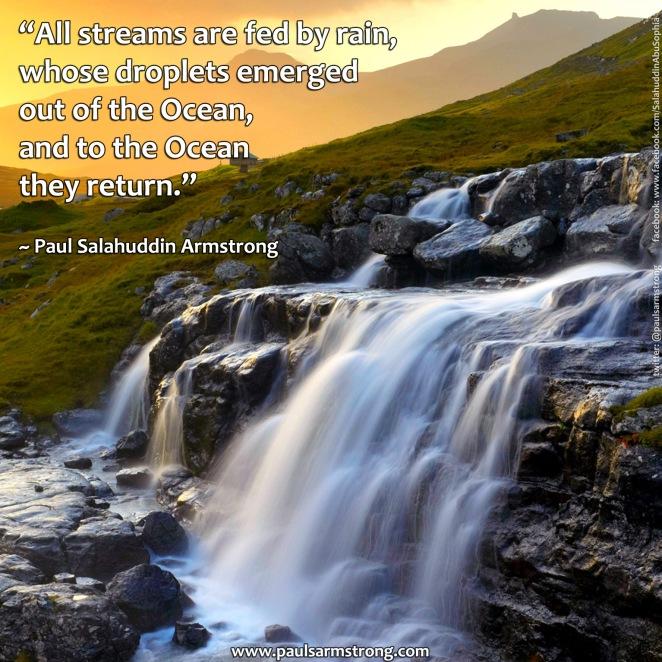 All streams are fed by rain