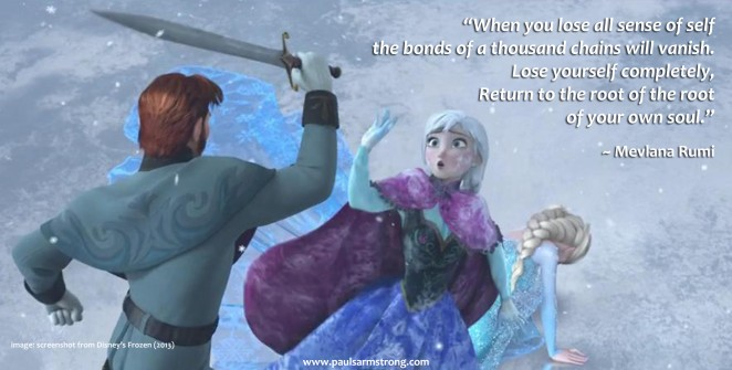 Rumi, Anna's sacrifice from Frozen