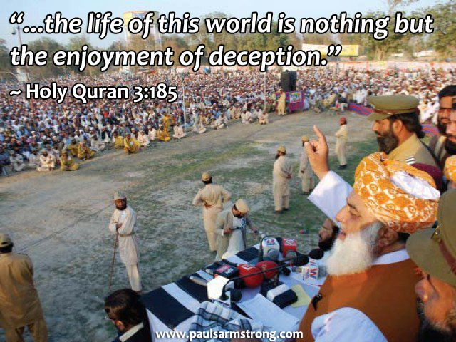 the life of this world is nothing but the enjoyment of deception