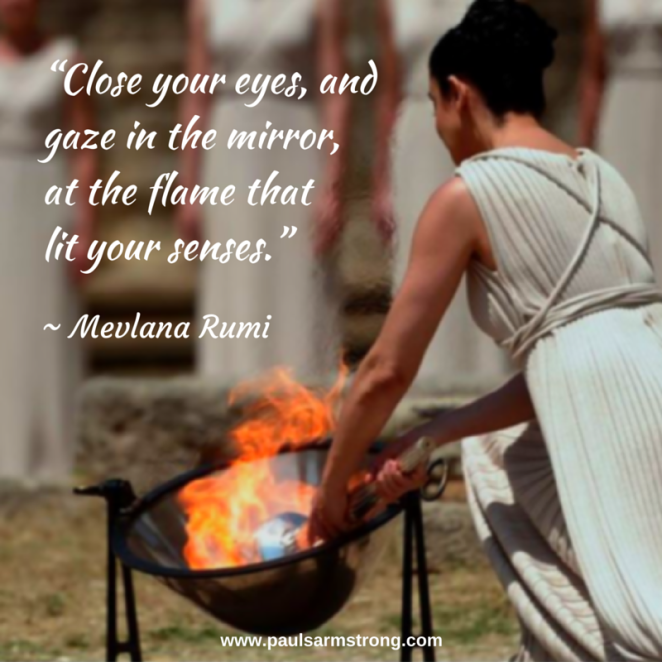 Rumi - Close your eyes and gaze in the mirror