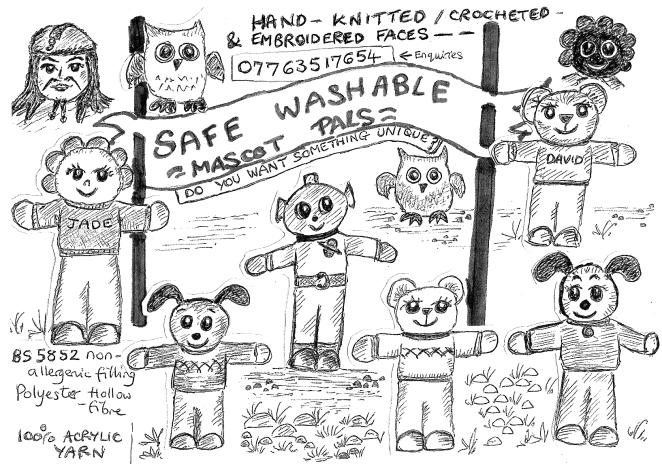 Safe Washable Mascot Pals - 2017 a