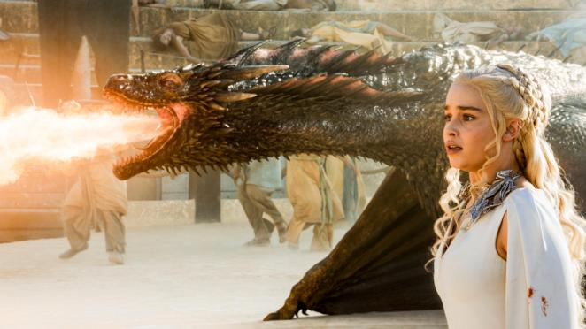 Daenerys Targaryen (Emilia Clarke) and Drogon, Game of Thrones, HBO